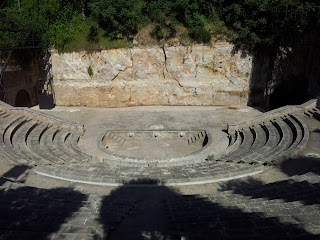 Top View of Greek Theatre in Barcelona