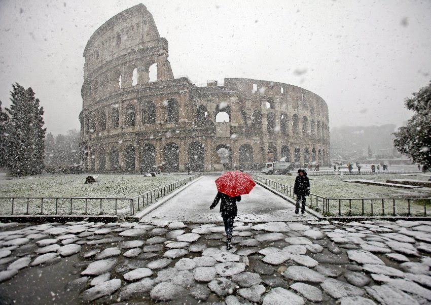 зима в италии