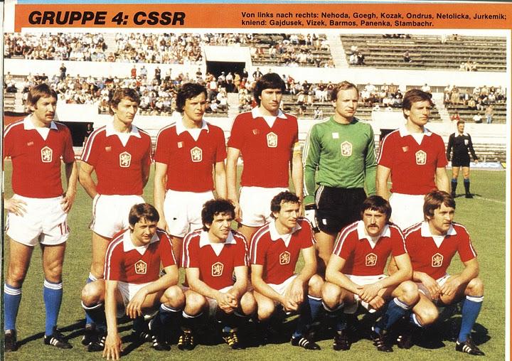 Resultado de imagem para tchecoslováquia futebol 1980