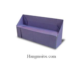 Cách gấp, xếp cái ghế sofa bằng giấy origami - Video hướng dẫn xếp hình đồ nội thất - How to fold a sofa