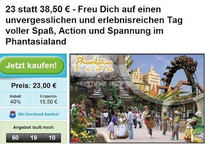 Groupon: Tageskarte für das Phantasialand in Brühl für 23 Euro statt 38,50 Euro