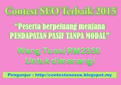 Jom Sertai Contest SEO Hadiah Lumayan