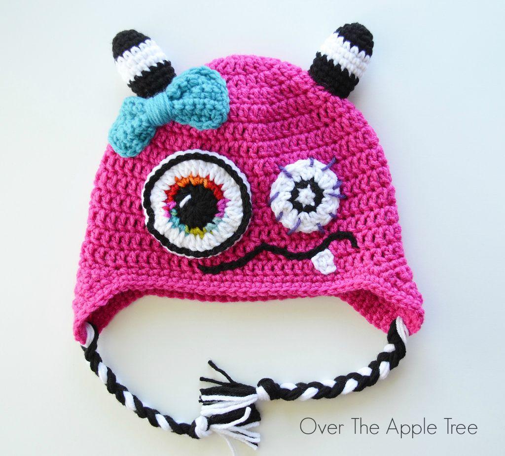 Over The Apple Tree: Crochet Monster Hat
