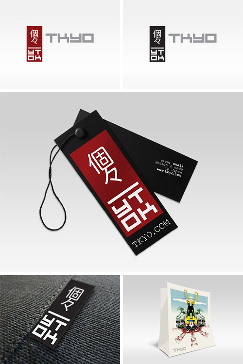 TKYO Clothing branding tags and logo