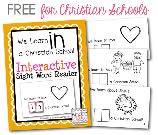 FREE emergent reader for Christian classrooms
