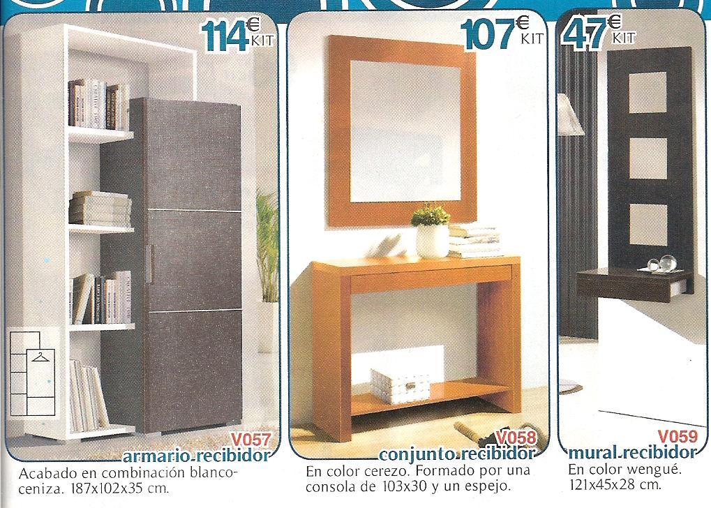 Muebles oferta kit recibidores y perchas for Muebles baratos castellon