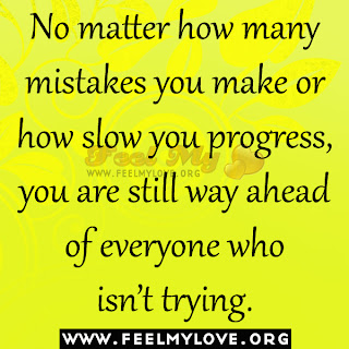 No matter how many mistakes you make
