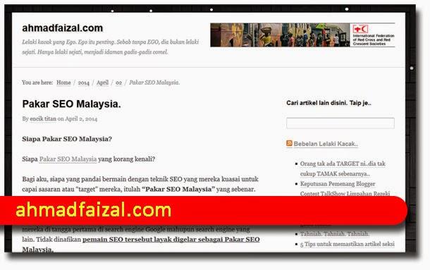 Pakar SEO Malaysia : Saudara Ahmad Faizal