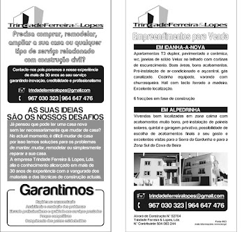 Flyer de apresentação da empresa