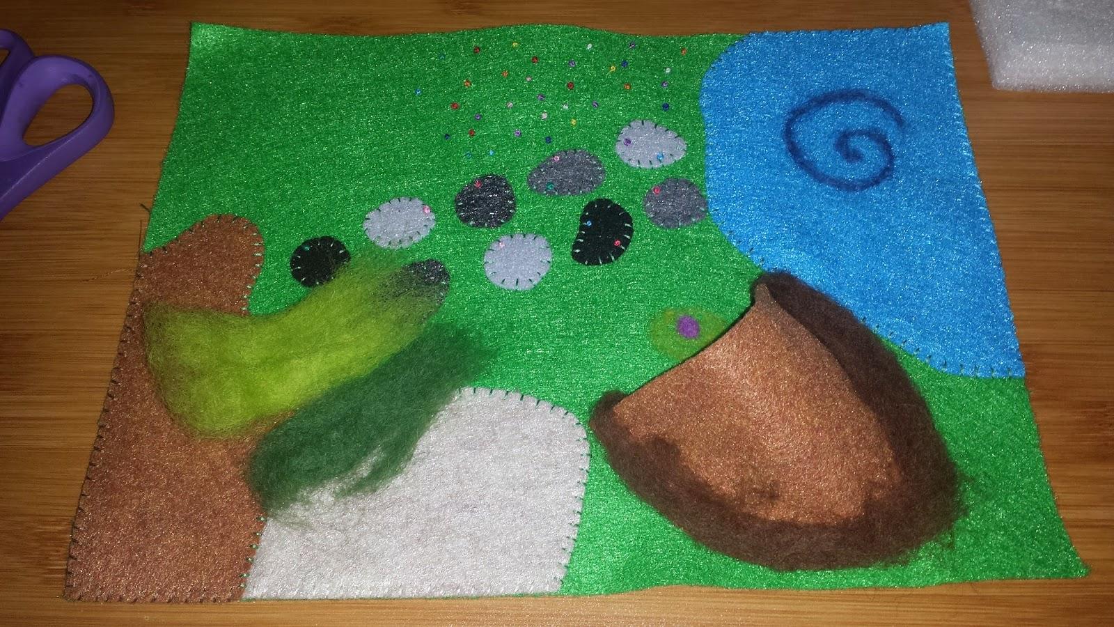 Man Cave Kristan Green : Munchkin and bean: felt play mats