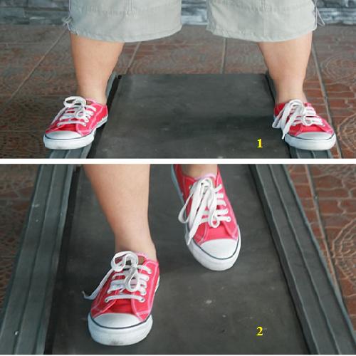Đứng trên vành đai trước khi chạy