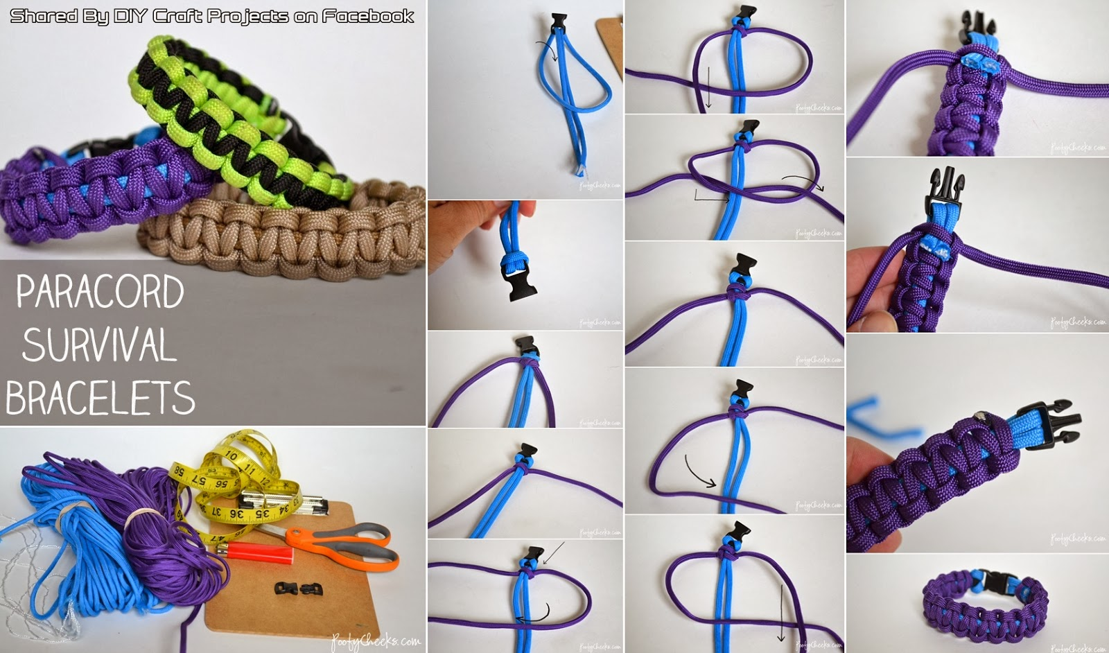Diy paracord survival bracelet diy craft projects