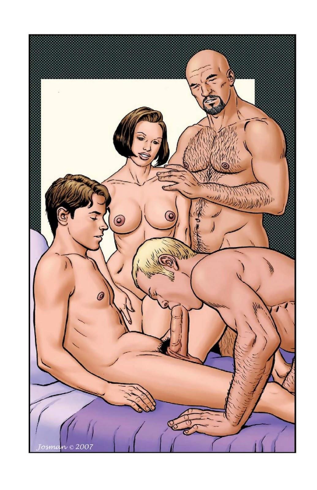 Gay comics art