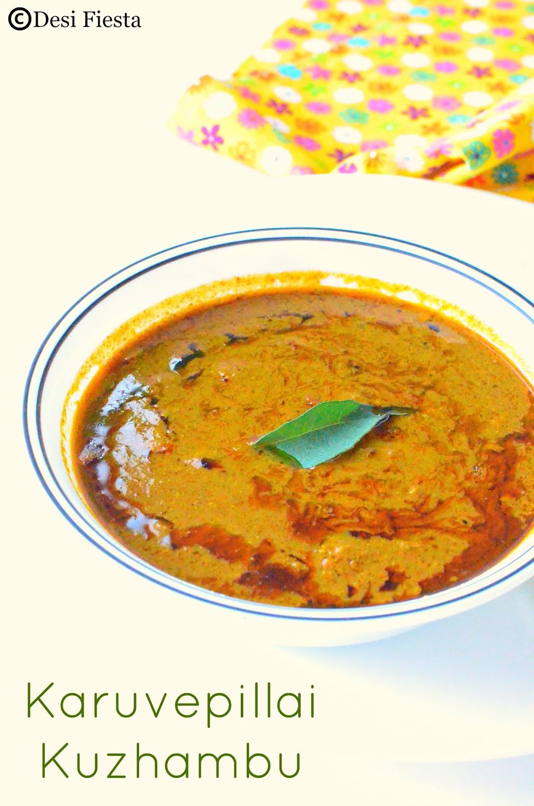 Curry leaves Kozhambu