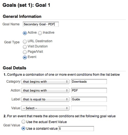 Goal Setting Configurare Google Analytics per la lead generation   How To