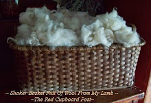 ~ Early Shaker Basket Full Of Wool From My Lamb ~