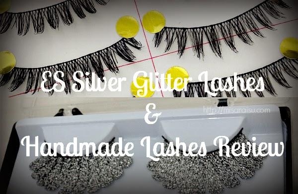 ES handmade lashes silver glitter
