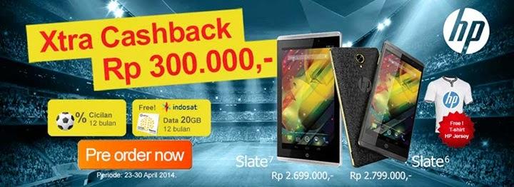 HP Slate Cashback Rp 300 Ribu