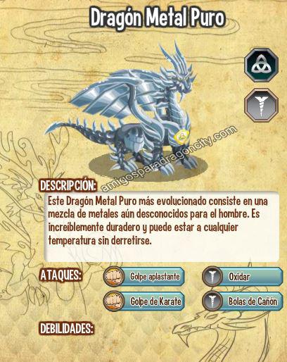 imagen del dragon metal puro y sus caracteristicas