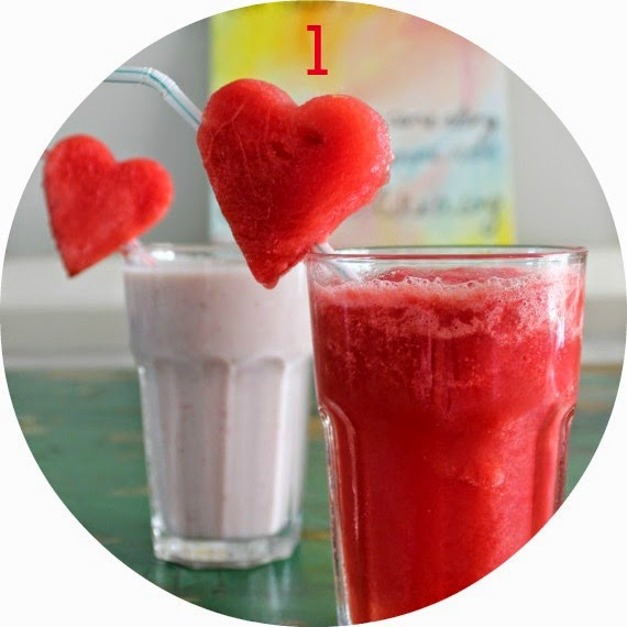 watermelon frappe smoothie ice summer drink cold kids party food
