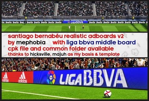 PES 2015 Santiago Bernabéu Realistic Adboards v2.0 by mephobia