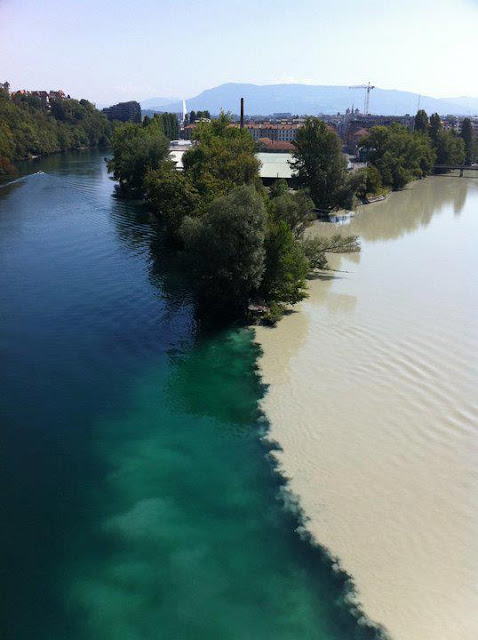 Geneva Switzerland - Junction of two Rivers