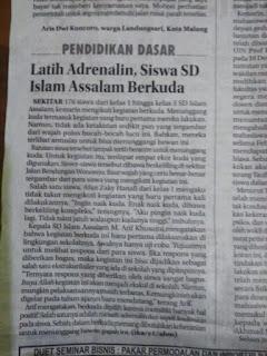 Latih Adrenalin, Siswa SD Islam As-Salam Berkuda
