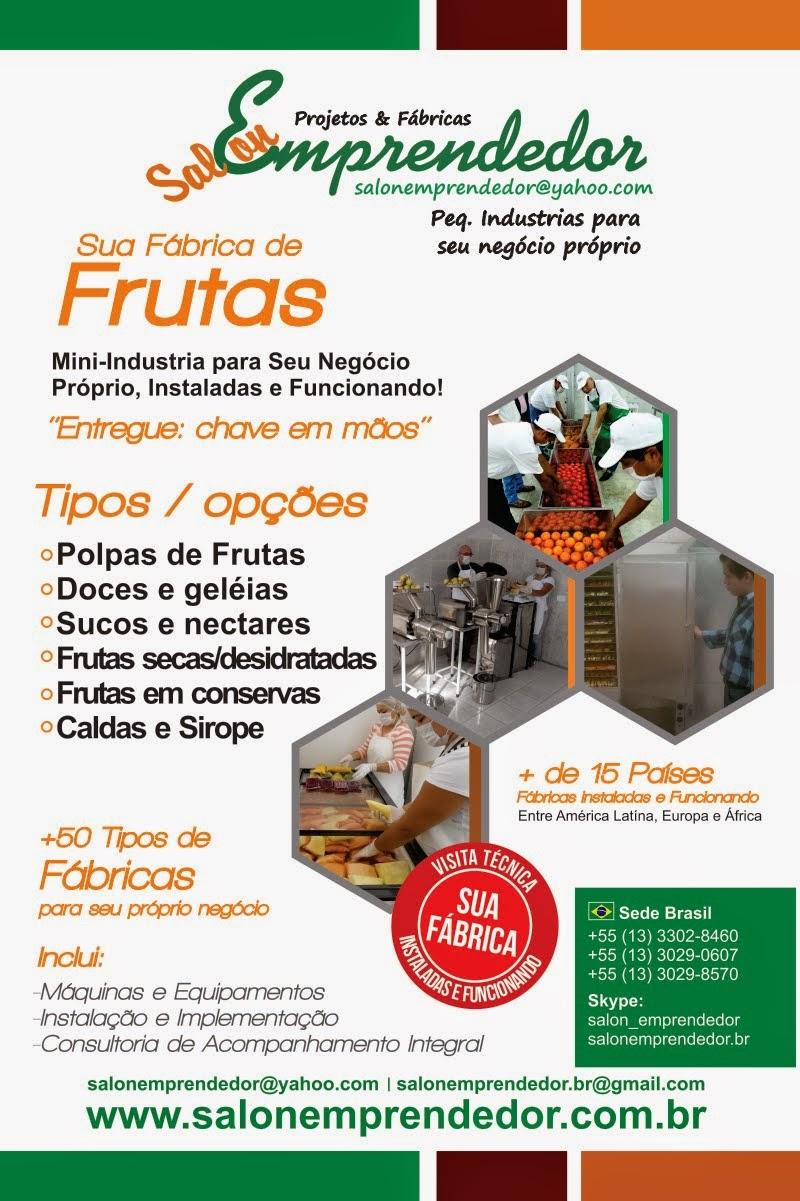 Fabricas p/ Processar Frutas