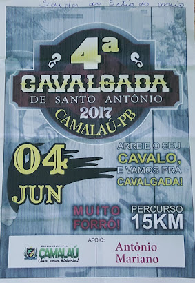 Cavalgada em Camalaú-PB (domingo) dia 04 de junho