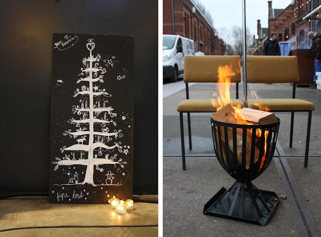 Kerstbomen en vuurkorven