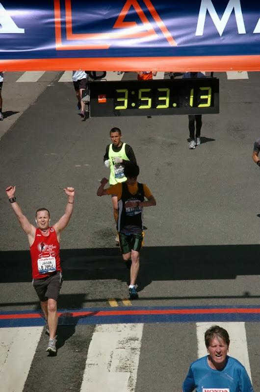 L.A. Marathon 2012 Finish Line