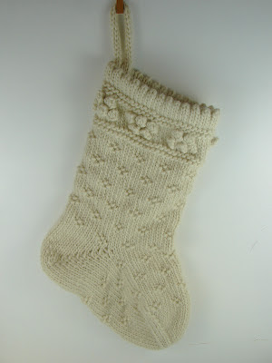 white knit stocking