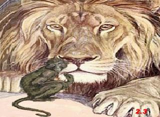 La scimmia e l'alito cattivo del leone (Fedro)