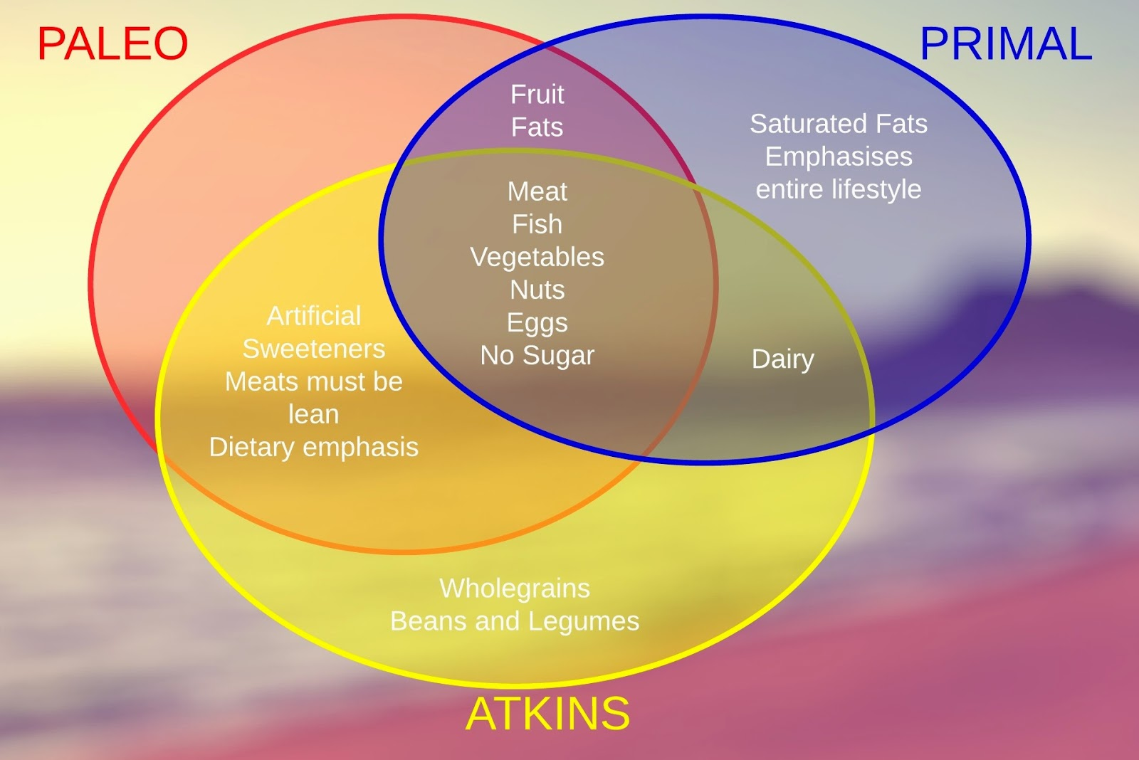 No me and no you primal living part 3 paleo primal and atkins venn diagram comparing paleo primal and atkins malvernweather Image collections