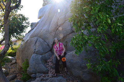 Kaliani in front of rocks, Copyright 2012, Jennifer Masters, used with permission