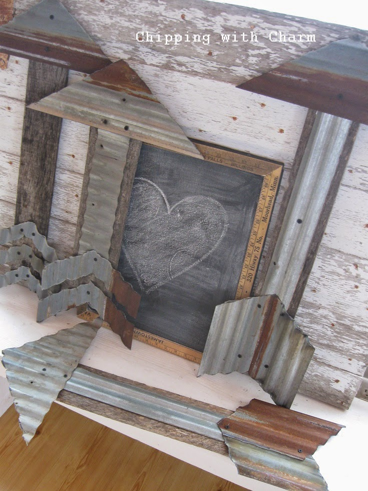 Chipping with Charm: Barn Tin and Salvaged Wood Arrows...www.chippingwithcharm.blogspot.com