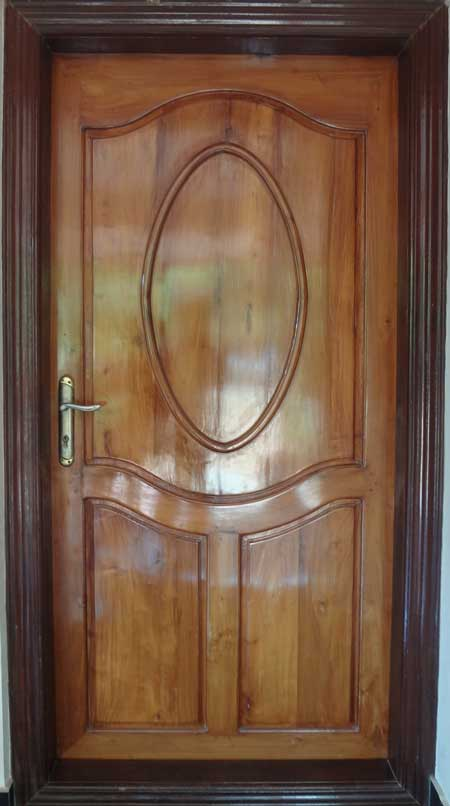 Kerala model wooden single door designs best collection for Big main door designs