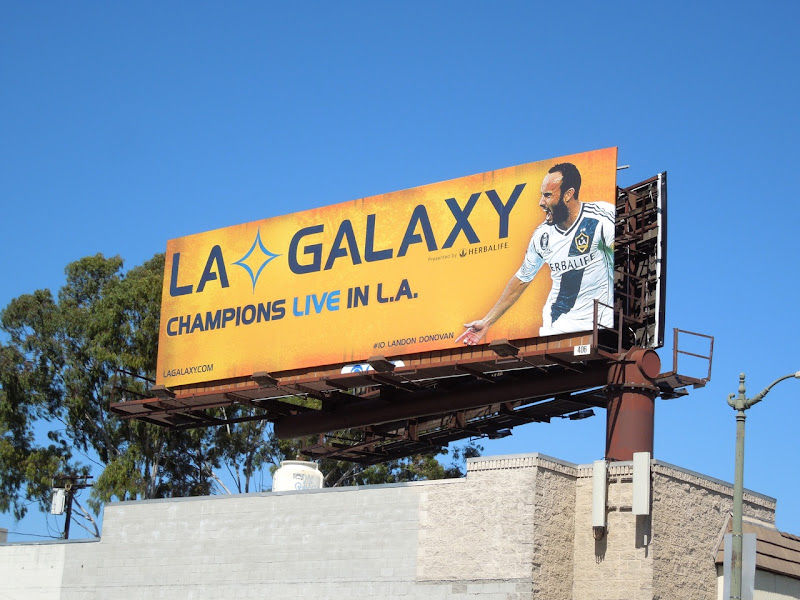 LA Galaxy 2013 billboard