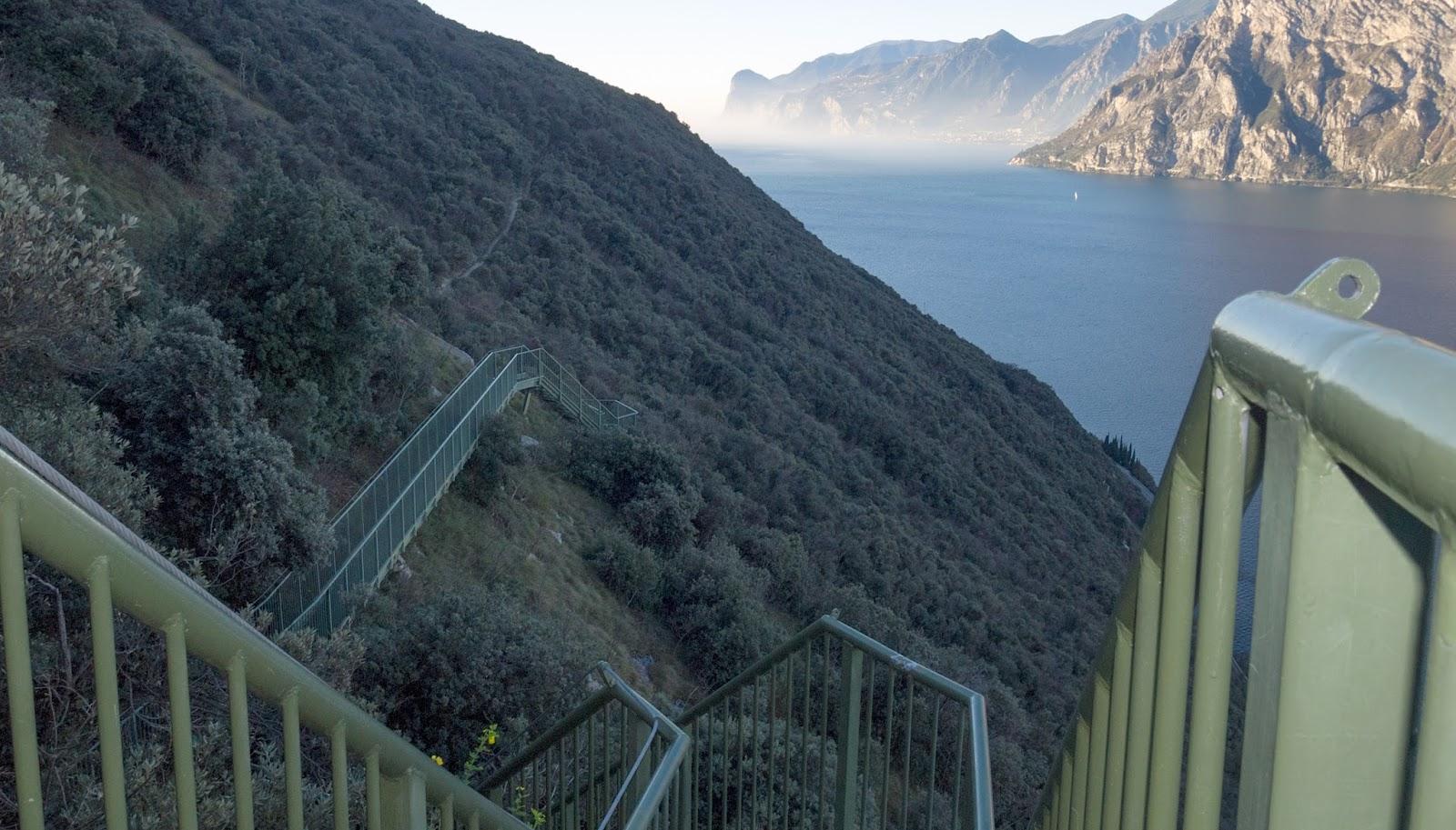 sentiero delle scale a Torbole
