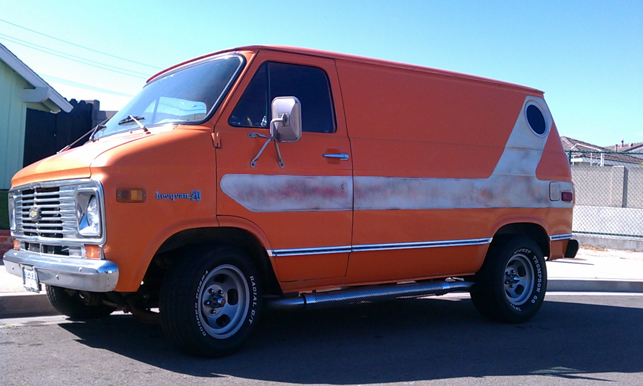 california garage 1976 chevy shorty van for sale sold