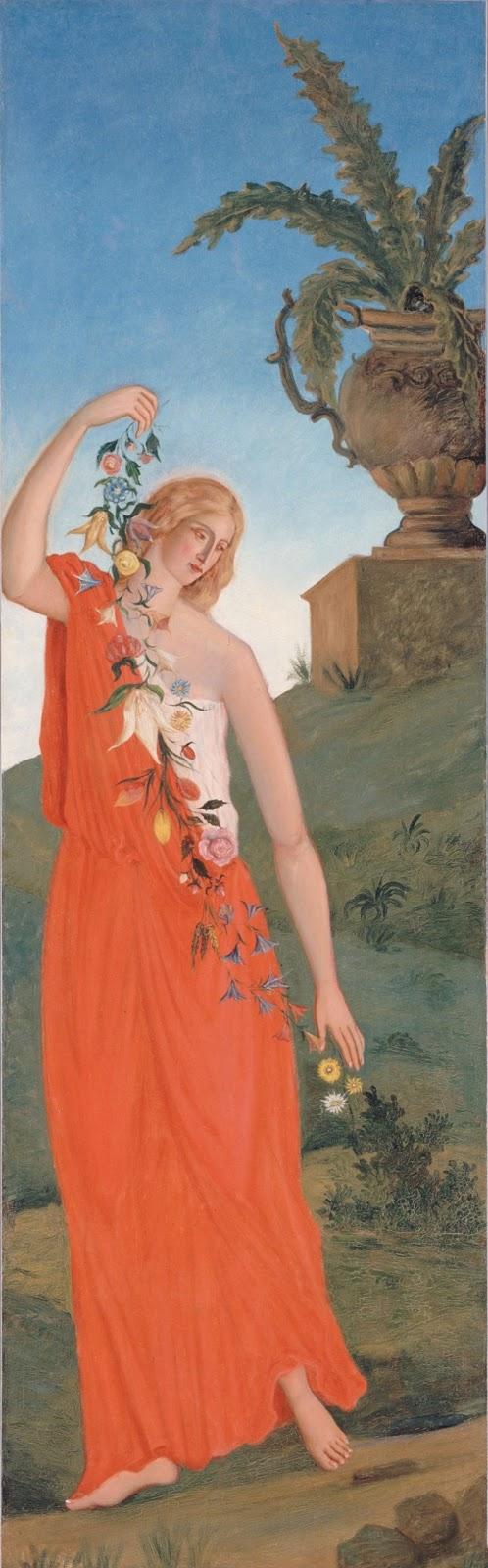 Paul Cézanne - The Four Seasons -Spring, 1861