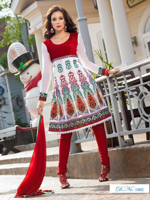 Designer Anarkali Salwar Kameez, Fancy Embroidery Anarkali Salwar Suits in Dubai