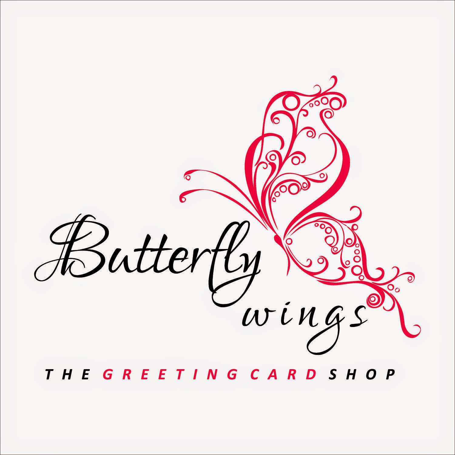 Butterfly Wings The Greeting Card Shop Logo