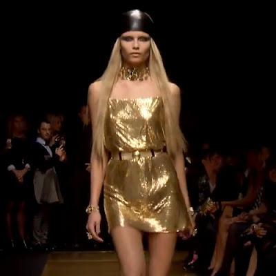 Versace arany nyári ruha - Versace 2012 kollekció