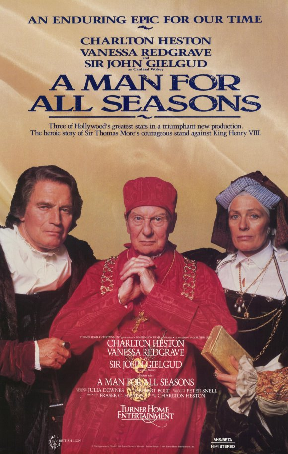 a man for all seasons integrity Amazoncom: a man for all seasons: robert bolt, charlton heston, vanessa  i have always admired charlton heston's acting skill, and his integrity as a.