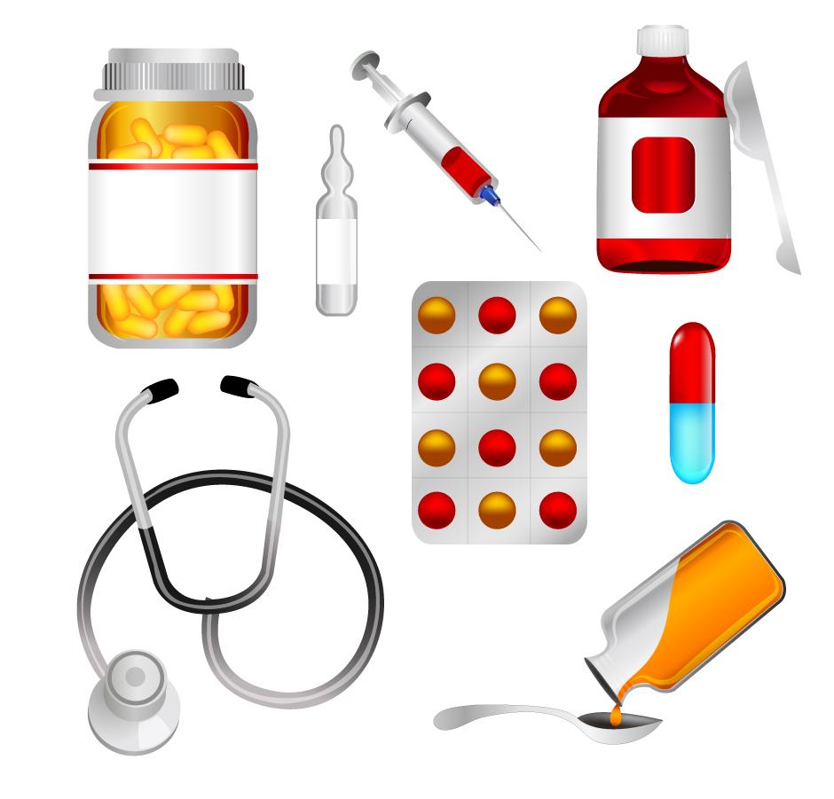 医療用品のアイコン Medicine Icons Set イラスト素材
