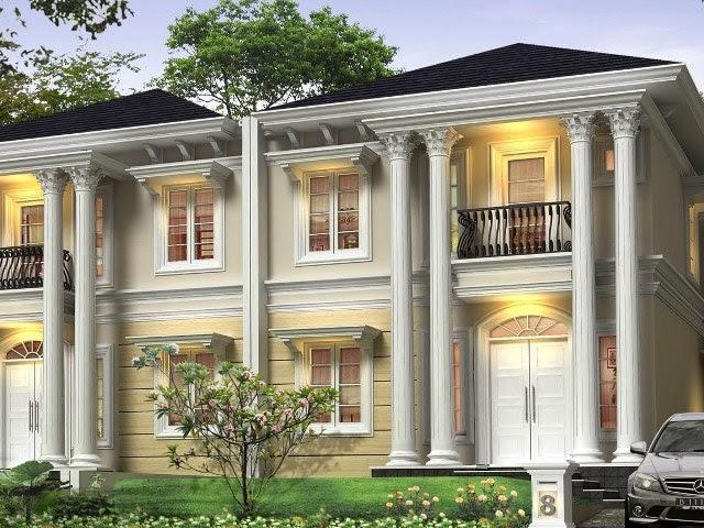 desain rumah mewah gaya mediterania contoh disain rumah