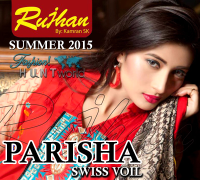 Rujhan Fabrics - Parisha Swiss Voil Summer Collection 2015 VOL 3