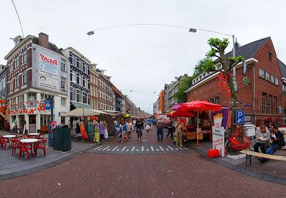 Albert Cuypstraat Street Market In Amsterdam Netherlands