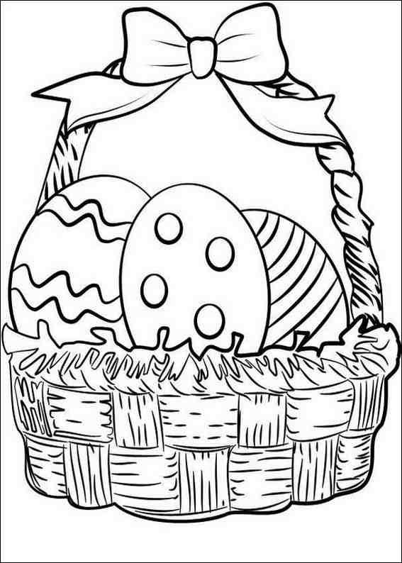 Easter Basket Coloring Pages: